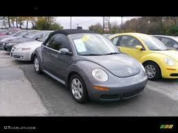 convertible volkswagen 2006 2007 platinum grey volkswagen new beetle 2 5 convertible 56087780