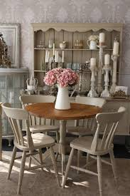 shabby chic round dining table and 4 chairs me likey pinterest