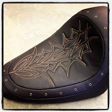 Motorcycle Seats Upholstery Custom Harley Seat Stitched Design And Vented For A Comfortable