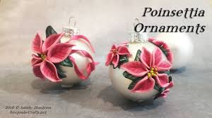 poinsettia ornaments polymer clay christmas ornaments series 2016