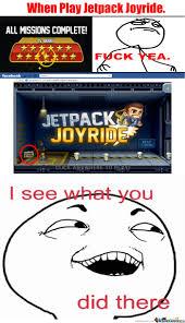 Jetpack Meme - jetpack joyride by troll lolol meme center
