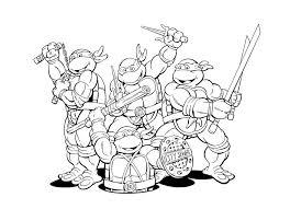 ninja turtles cartoon teenage mutant free superhero coloring