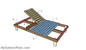 Wood Lounge Chair Plans Free by Double Chaise Lounge Plans Myoutdoorplans Free Woodworking