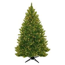 6 5 u0027 pre lit artificial christmas tree wintergreen fir clear