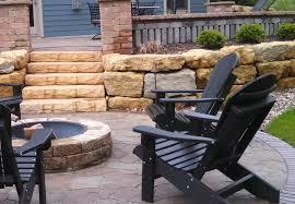 madison fireplace concrete block kittleson landscape