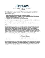 annual reports u0026 proxy statement first data