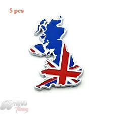 online shop 5pc chrome union jack england flag car rear boot trunk