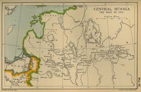 Russian Map Of Central Russia The War Of 1812