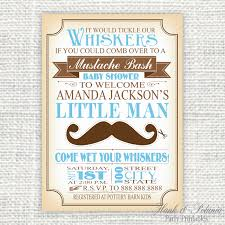 Making Invitation Card Baby Shower Invitations Mustache Theruntime Com