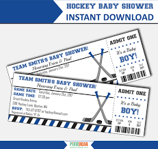instant download baby shower invitations hockey baby shower invitations hockey baby shower baby