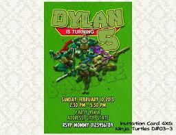 tmnt teenage mutant ninja turtles birthday invitations diy