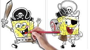 coloring pages spongebob pirate spongebob coloring book kids