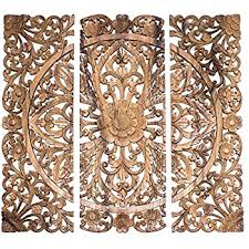 balinese headboard 3 wood decorative wall panels