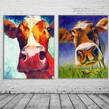 online get cheap abstract mural paintings aliexpress com new 2017 handmade modern mural picture on canvas wall art cow painting hang paintings abstract animals