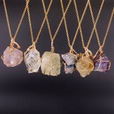 purple fashion jewelry necklace images Fashion jewelry natural fluorite lemon quartz necklaces handmade jpg