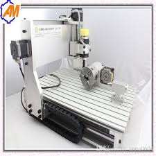 2018 aman mini desktop cnc engraving machine with best service 3040 1500w 3d cnc router for woodworking art work soft metals from anna0604