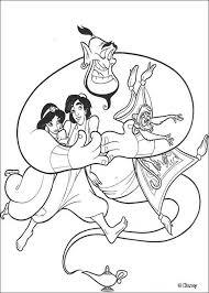 genie aladdin jasmine coloring pages hellokids