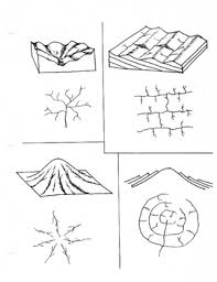 What Is Trellis Drainage Pattern Drainage Patterns Stream Trellis Dendritic Worksheets Earth