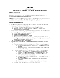 Retail Job Responsibilities Resume by Resume Sales Associate Job Description Free Resume Example And