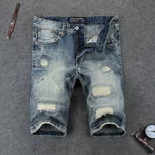Ripped Denim Jeans For Men Ripped Jean Shorts Men Promotion Shop For Promotional Ripped Jean