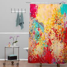 Unique Fabric Shower Curtains Peri Bohemian Shower Curtain Affordable Modern Home Decor