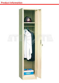1 door army steel hanging clothes wardrobe cabinet cheap single