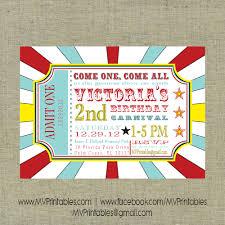 themed invitations carnival themed custom digital printable invitation on storenvy
