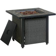 Uniflame Propane Fire Pit - blue rhino uniflame lp propane gas fire pit table with granite