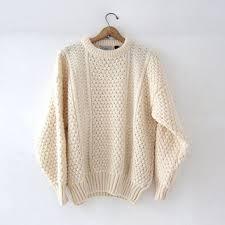 white wool sweater vintage white wool sweater from birdies vintage