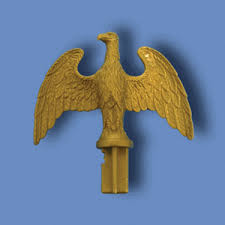 indoor flagpole ornaments plastic slip fit eagles gold colored