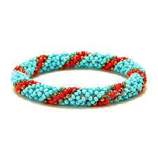 bracelet crochet beads images Nepal handmade blue bead bracelet hippy friendship popular roll jpg