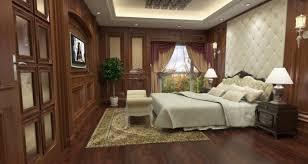 bedroom design with wooden flooring 3d house