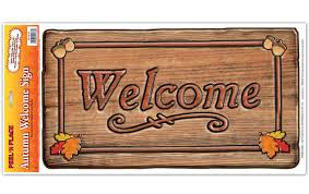the aisle fall thanksgiving autumn welcome sign peel n