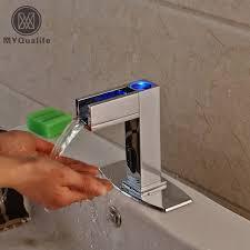 le infrarouge cuisine led lumière batterie automatique infrarouge capteur robinet pour