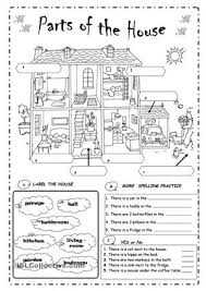 label the parts of the house english pinterest the house