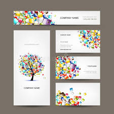 tarjeta de visita diseo colección de las tarjetas de visita con diseño del árbol del web