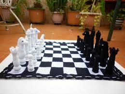 interesting chess sets crochet chess set pattern rebeckah u0027s treasures the board becomes