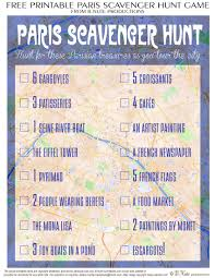 bnute productions free printable travel game paris scavenger hunt