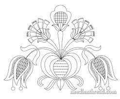 free embroidery pattern tulips carnations needlenthread