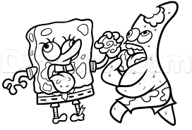 how to draw zombie spongebob and patrick step by step zombies