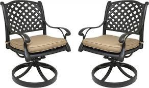 Sunbrella Rocking Chair Cushions Nevada Cast Aluminum Outdoor Swivel Rocker Chairs With Sunbrella