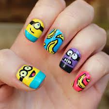 minions nail art youtube the little canvas despicable me minion