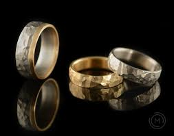 hammered wedding bands mccaul goldsmiths