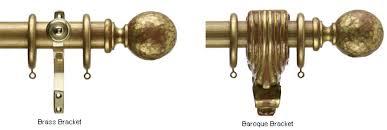 Wooden Curtain Pole Brackets 35mm Regency Ambassador Church Gold Curtain Poles Hammered Ball