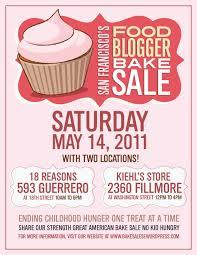 san francisco food blogger bake sale this saturday eat the love