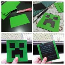 mincraft invitation printable or printed minecraft party