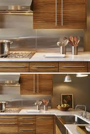 Backsplash In Kitchen Best 20 Stainless Backsplash Ideas On Pinterest Stainless Steel