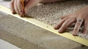Cut To Fit Bathroom Rugs How To Install Carpet Transition Trim Between Concrete U0026 Carpet