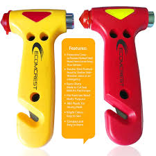 amazon com car safety hammer window breaker and seatbelt cutter