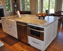 kitchen island with dishwasher kitchenaid dishwasher in kitchen island with microwave and white
